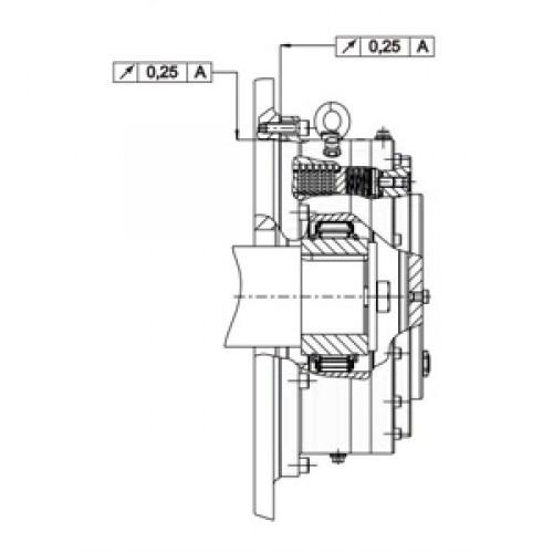 Обгонная муфта RDBK 125-63 Stieber