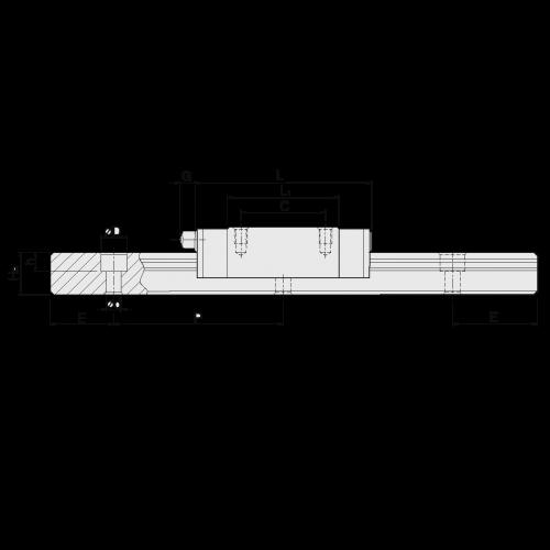 Линейная шариковая каретка <span> MGN15CZA </span> Hiwin