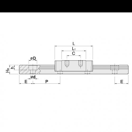 Линейная шариковая каретка <span> MGN9CZB </span> Hiwin
