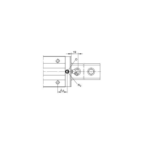 Линейная шариковая каретка <span> KUSE20-H </span> INA
