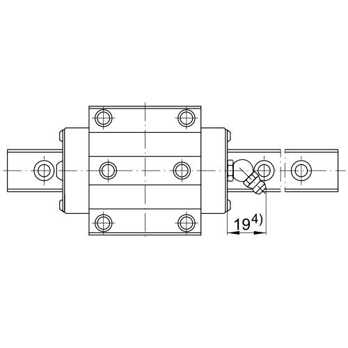 Линейная шариковая каретка <span> KWVE25-B-HS-N </span> INA