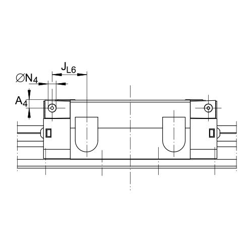 Линейная роликовая каретка <span> RWU100-E-L </span> INA