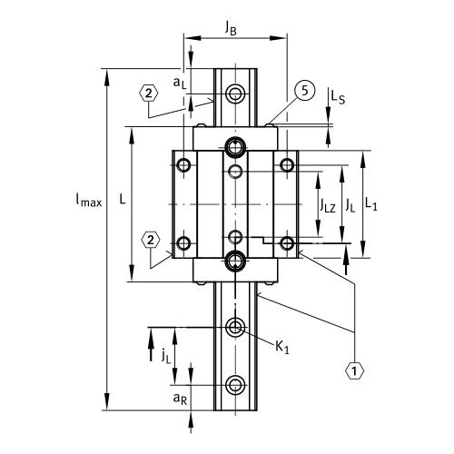 Линейная роликовая каретка <span> RUE25-E-L </span> INA