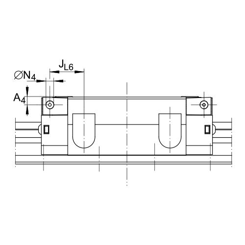 Линейная роликовая каретка <span> RWU35-E </span> INA