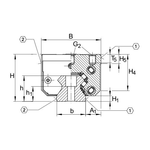 Линейная роликовая каретка <span> RWU35-E-H </span> INA