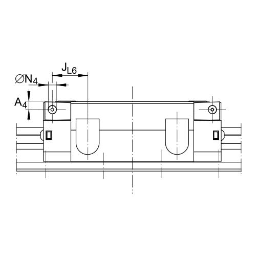 Линейная роликовая каретка <span> RUE45-E-H </span> INA
