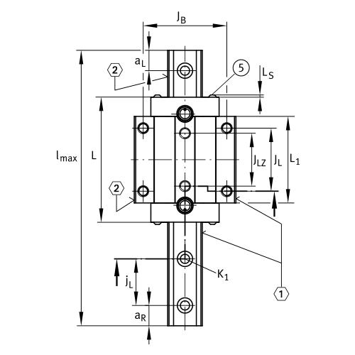 Линейная роликовая каретка <span> RUE45-E-L </span> INA