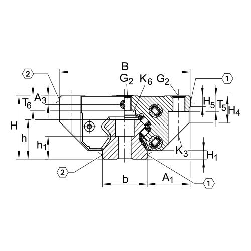 Линейная роликовая каретка <span> RUE55-E-L </span> INA
