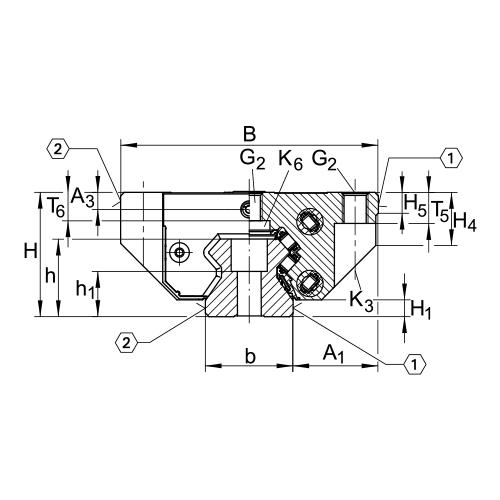 Линейная роликовая каретка <span> RUE65-E </span> INA