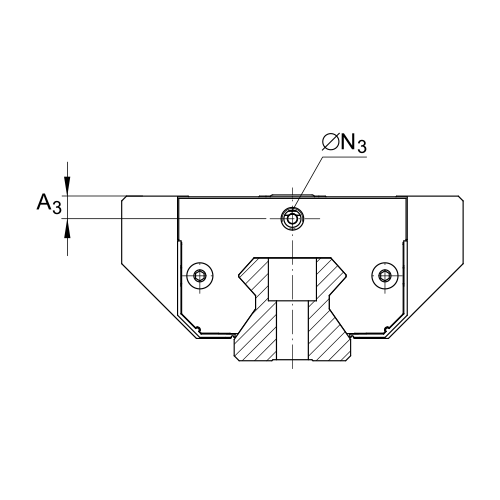 Линейная роликовая каретка <span> RUE65-E-L </span> INA