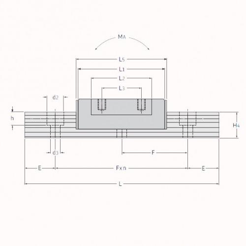 Линейная шариковая каретка <span> LLMHS12TA </span> SKF