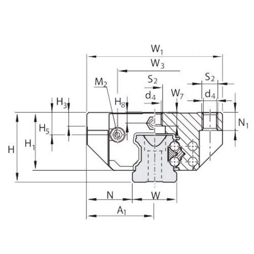 Линейная шариковая каретка <span> LLRHC35AT0P5 </span> SKF