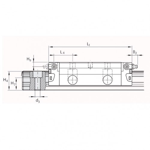 Линейная шариковая каретка <span> LLRHC15LAT0P5 </span> SKF