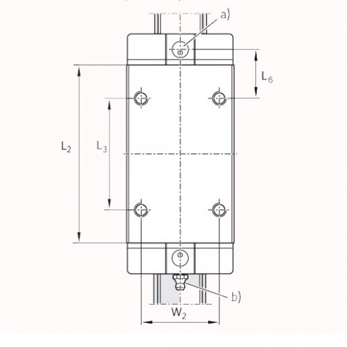 Линейная шариковая каретка <span> LLRHC45LUT0P5 </span> SKF
