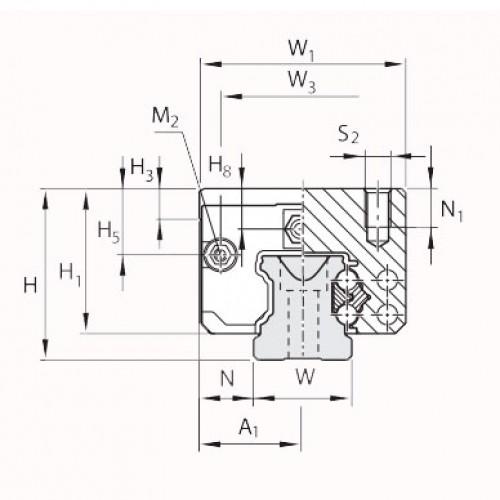 Линейная шариковая каретка <span> LLRHC45RT0P5 </span> SKF