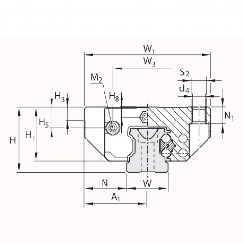 Линейная шариковая каретка высокого класса точности <span> LLRHC35SAT0P3 </span> SKF
