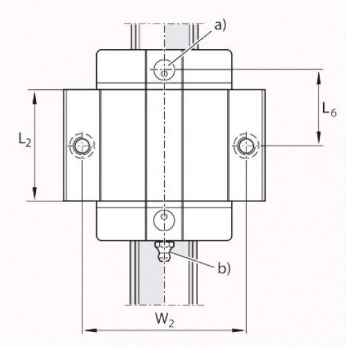 Линейная шариковая каретка <span> LLRHC35SAT0P5 </span> SKF