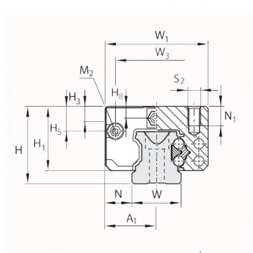 Линейная шариковая каретка <span> LLRHC15SUT0P5 </span> SKF