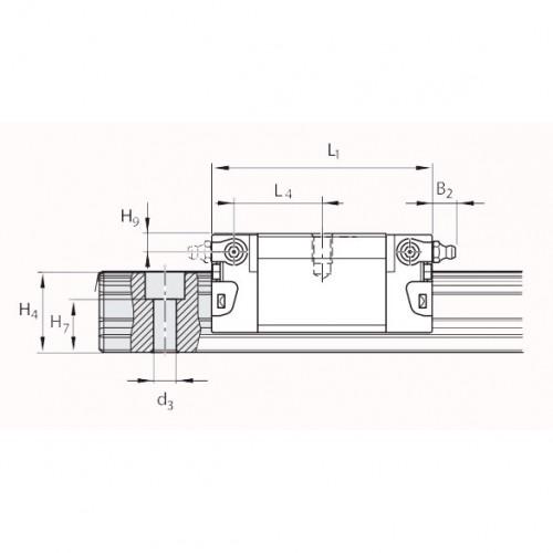 Линейная шариковая каретка <span> LLRHC30SUT1P5 </span> SKF