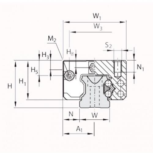 Линейная шариковая каретка <span> LLRHC15UT0P5 </span> SKF