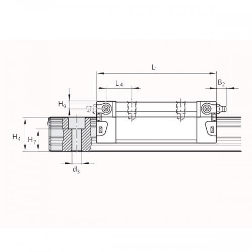 Линейная шариковая каретка <span> LLRHC35UT2P5 </span> SKF