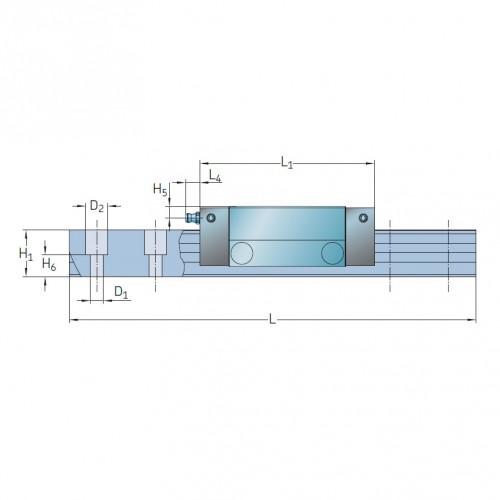 Линейная роликовая каретка <span> LLUHS55A </span> SKF