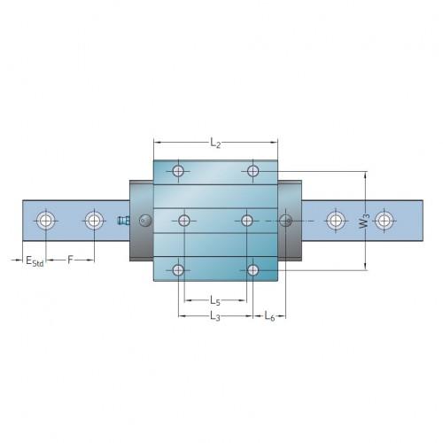 Линейная роликовая каретка <span> LLUHS25LA </span> SKF