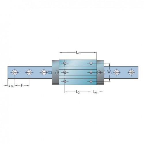 Линейная роликовая каретка <span> LLUHS35LR </span> SKF