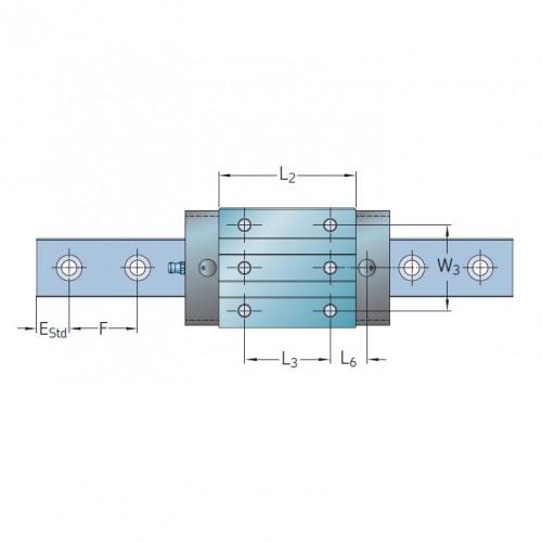 Линейная роликовая каретка <span> LLUHS65R </span> SKF