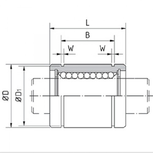 Линейный подшипник BB25A SNR-NTN