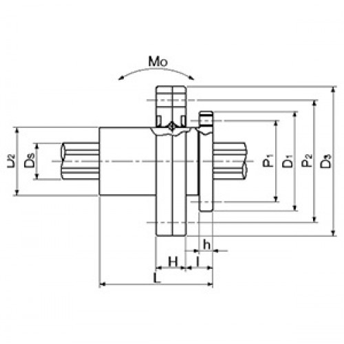 Направляющая с вращающейся шариковой втулкой  BSP16RL SNR-NTN