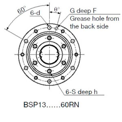 Направляющая с вращающейся шариковой втулкой  BSP13RN SNR-NTN