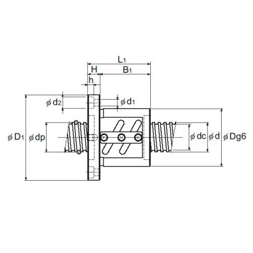 Прецизионная шарико-винтовая передача BIF 2508-5 THK