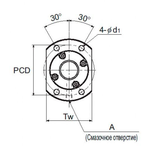 Прецизионная шарико-винтовая передача BLK 2020-3,6 THK