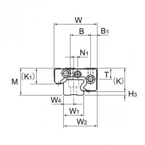 Линейная шариковая направляющая GSR 20V THK