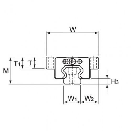 Линейная шариковая направляющая HCR 25A+60/500R THK