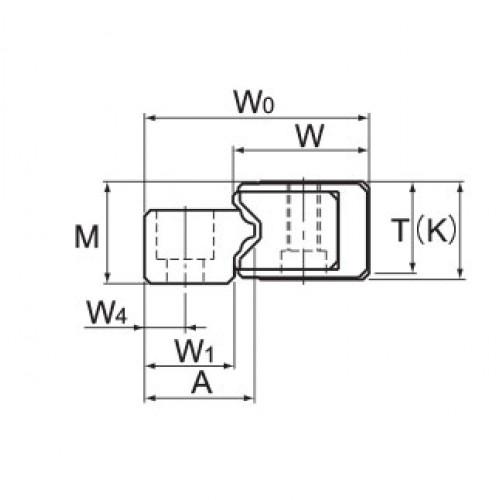 Линейная шариковая направляющая GSR 15V THK