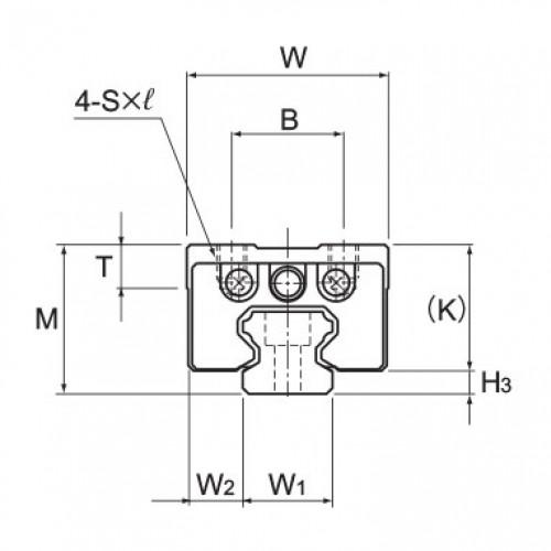 Линейная шариковая направляющая HCR 12A+60/100R THK