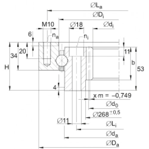Опорно-поворотное устройство <span> VI140326-V </span> INA