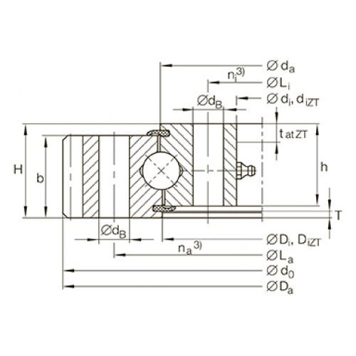 Опорно-поворотное устройство VA160235-N INA