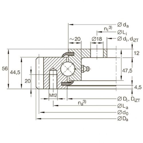 Опорно-поворотное устройство VLA200744-N INA