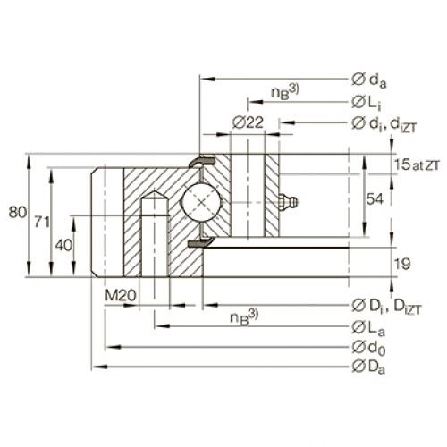 Опорно-поворотное устройство VSA250755-N INA