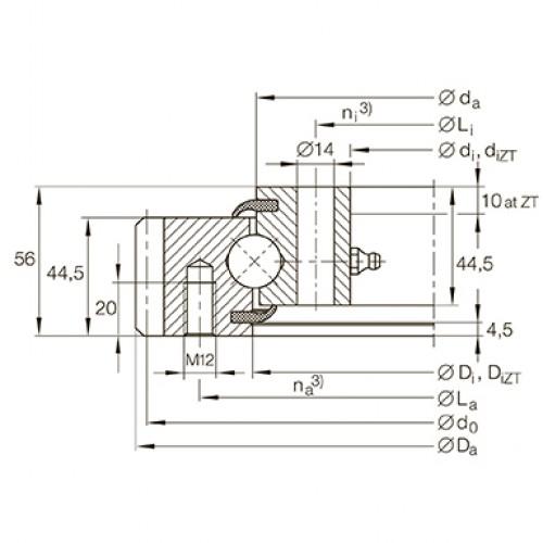 Опорно-поворотное устройство VSA200844-N INA