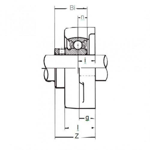 Подшипниковый узел BFL 206 ASAHI