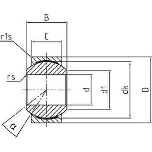 Подшипник скольжения сферический DG 20 PW Durbal