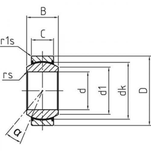 Подшипник скольжения сферический DGE 100 UK-2RS Durbal