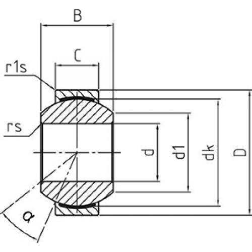 Подшипник скольжения сферический DGE 08 fW Durbal