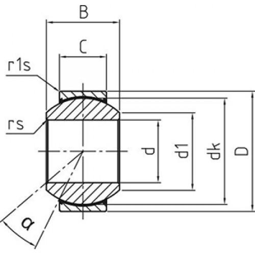 Подшипник скольжения сферический DGE 100 fW-2RS Durbal