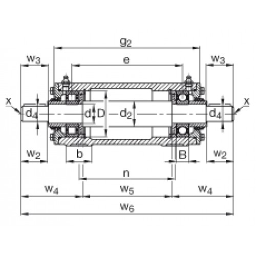 Подшипниковый узел VRE309-D FAG