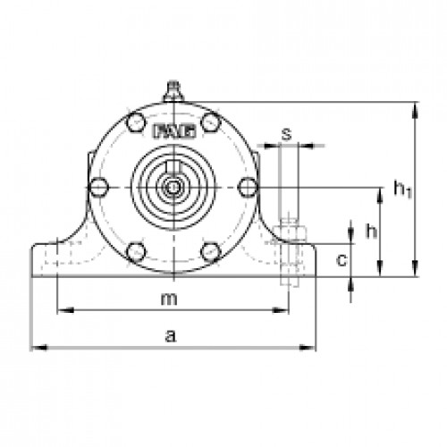 Подшипниковый узел VRE309-E FAG